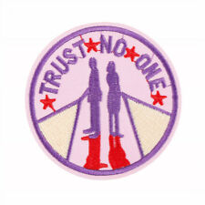 1pc trust no one Iron On Patches Embroidered Sewing Patch Clothes StickersE9C