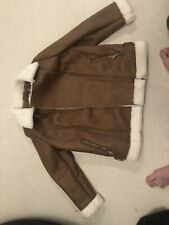 ** Brand New / Tags - M&S Ladies Brown Leather Jacket ** SIZE 16. RRP £69