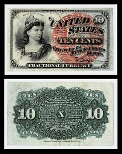 1863 10c Fractional Currency ~ EXTRA FINE