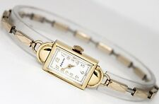 Ladies Vintage Zenith 14K Yellow Gold Hand-Winding White Dial Circa 1930s Watch