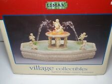 Lemax Lighted Village Square Fountain w/ Self-Contained Water Pump On/Off Switch