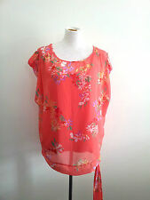 Pretty Pastels! Wallis size L sheer coral top & cami in excellent condition