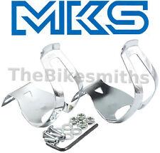 MKS Half DEEP Steel Toe Clips Classic Chrome Japan Made Pedal Clip Fixed Gear