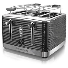 Russell Hobbs Tr9450Br Retro Style 4 Slice Toaster In Black