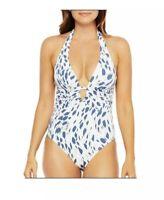 LA BLANCA V neck one piece swimsuit. Retail Price $134 Size 6