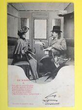 cpa 1900 BERGERET Cie NANCY En Wagon TRAIN Chemins de Fer Justine SUTRA Béziers