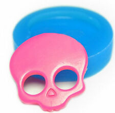 Skull Mini Silicone Mold for Fondant, Gum Paste, Chocolate, Crafts