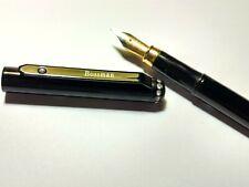 Stylish black fountain pen with beautiful design pen clipper