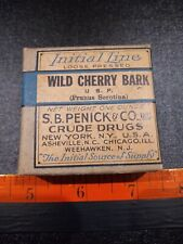 Vintage Wild Cherry Bark Crude Drugs Box With Contents.
