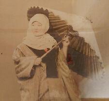 "Photo Kuzakabe Kimbei Albuminé Japon Geisha Vers 1880 "" FEMME À L'OMBRELLE """