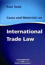 Cases and Materials on International Trade Law, Very Good Condition Book, Paul T