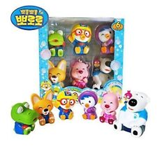Pororo & Friends Bath Toy (6pcs) Pororo+Crong+Loopy+Eddy+Petti+Poby
