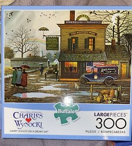 Buffalo Games - Charles Wysocki - Dampy Donuts on a Dreary Day - 300 Large Piece