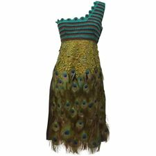 Rare Collector's PRADA Runway 2005 Peacock Feather Dress Size 42