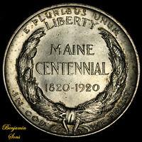 1920 Main Centennial Silver Commemorative Half 051920-02B Free Shipping!