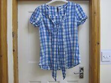 H&M blue checked shirt size 10, 100% cotton