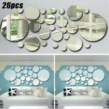 26pcs/set 3D Acrylic Wall Mirror Stickers Stick On Decal Mural Home Art Decor