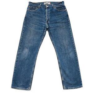 Levis's 505 Bleu Standard Jeans Coupe Droite Taille W36 L32
