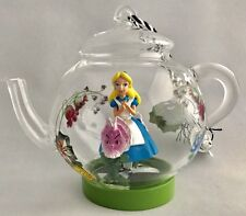 Disney Parks Alice in Wonderland Teapot Glass Christmas Ornament - New With Tag