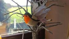 Artificial Feather Robin Redbreast Bird - In Flight Artificial Robin