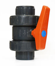 "Ball Valve 1.5"" - Double Union - Premium Koi Pond, Filter Gate Valve, Koi Carp"
