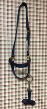 Cow Halter Ozark Brand With Lead Nwt Navy Blue