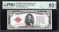 1928-A $5 Legal Tender Note C86716606A PMG Choice Uncirculated 63EPQ