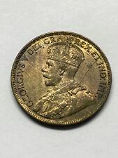 1919 Canada 1 Cent AU+ Die Crack #11701
