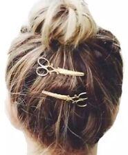 2 Épingles Accessoires A Cheveux En Forme De Ciseaux Dorée