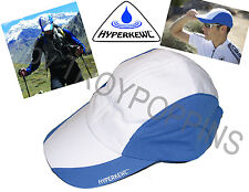 1-HEADWEAR HYPERKEWL-BLUE/WHITE 6593 COOLING CAP/HAT TECHNICHE SPORT GOLF GEAR