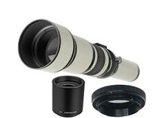 Bower 650-2600mm Super Telephoto Zoom Lens w/ 2x Extender For Nikon DSLR Camera