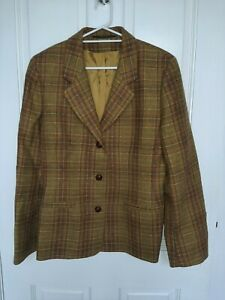 Ladies Wool Jacket Size 12 Laura Ashley Tweed Style Country Coat
