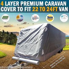 PINNACLE 4 LAYER PREMIUM CARAVAN COVER to fit 22 to 24ft Van UV & Waterproof