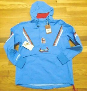 NWT MITCHELL & NESS MLB ST. LOUIS CARDINALS HALF ZIP ANORAK JACKET SIZE S