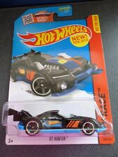 HW HOT WHEELS 2015 HW RACE #130/250 GT HUNTER HOTWHEELS BLACK RACE TRACK READY