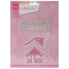 Marianne Design Collectables Dies W/Stamps Christmas Village Chalet, COL1328 ~