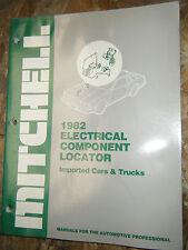 1982 MITCHELL ELECTRICAL COMPONENT LOCATOR MANUAL BMW SAAB JAGUAR VOLVO AUDI LUV