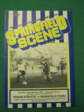 PROGRAMME - Wigan Athletic v Mansfield Town - 21 Feb 1981