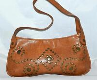 Steve Madden Caramel Brown Studded Faux Leather Shoulder Bag Purse