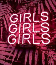 "GIRLS GIRLS GIRLS Neon Sign Pink Beer Bar Man Cave Light  Room Decor 10""x 10"""