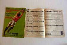 PUBLICITE  PHILIPS  téléviseur  COUPE DU MONDE DE FOOTBALL 1974 Réf 222