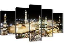 5 Piece Canvas Wall Art Prints - Modern Islamic Mecca Temple - 5190 - 160cm