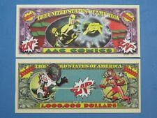 AAC Comics ZAP! ~ Fun $1,000,000 One Million Dollar Bill ~ Heroes & Villians