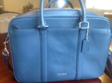 Brand New Coach Dark Denim Slim Briefcase with Tag