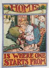 Mary Engelbreit Artwork-Home is Where One Starts From-Handmade Magnet