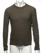 RALPH LAUREN PURPLE LABEL Mens Brown Knit Crew-Neck Pullover Sweater S