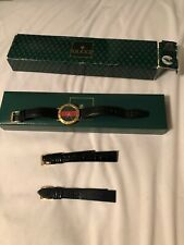 Gucci Watch 3000M Mens Watch Red And Green Stripe With 2 Extra Gucci Watch Bands