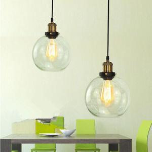 2X Glass Pendant Lighting Kitchen Pendant Light Bedroom Lamp Home Ceiling Lights