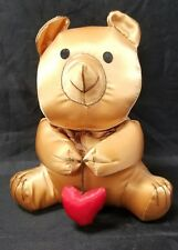 Russ Berrie Bear Satin Silk Bear Ornament Heart Valentine's Day Christmas 7""