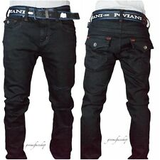 Mens Peviani skinny fit rip g black jeans, urban star slim bar denim pants hip